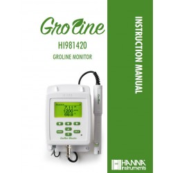 HI981420-02 GroLine Hydroponic Nutrients Monitor for pH, EC, TDS, and Temperature
