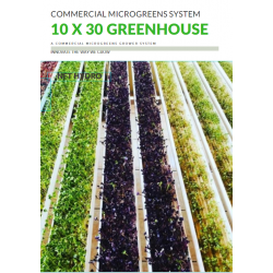 Commerical Microgreens System 10 x 30m greenhuse