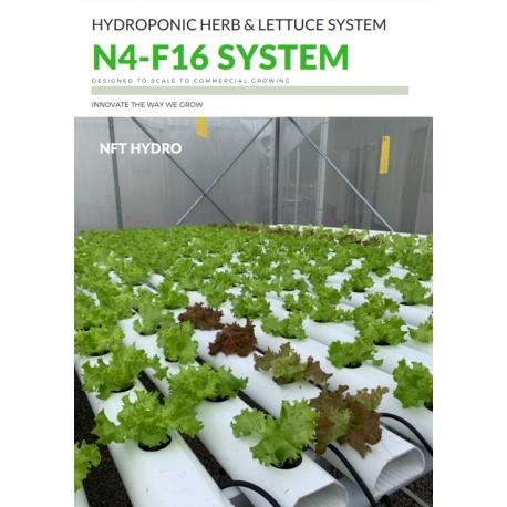 NFT Hydro Hydroponic Grower 4-16 System